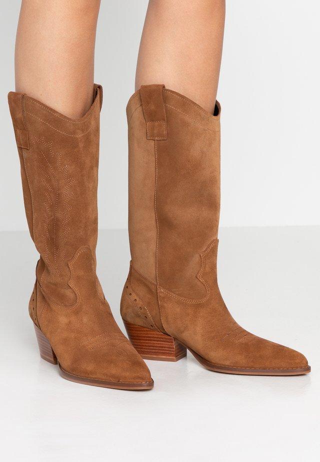 VENIEL - Cowboy/Biker boots - camel