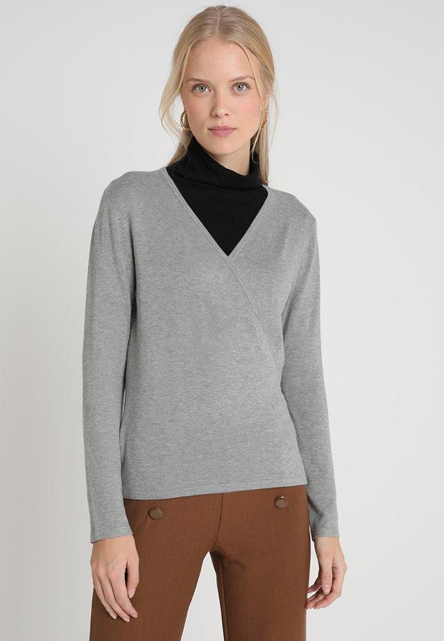 Sweter - mottled light grey