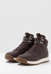 Lacoste - URBAN BREAKER - High-top trainers - dark brown/offwhite - 2