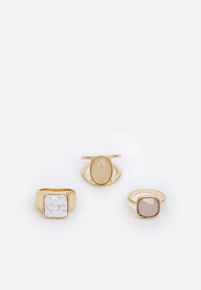 PCPAIGE 3 PACK - Ringar - gold-coloured/rose
