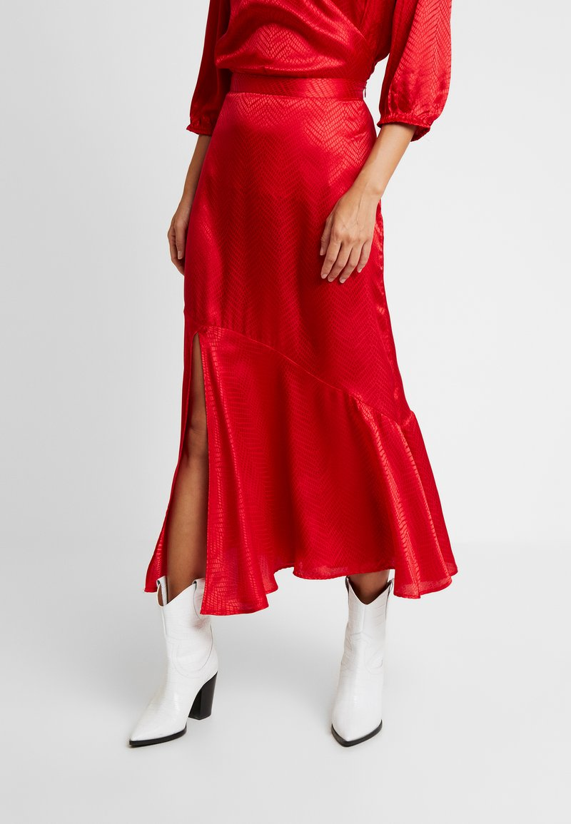 Soaked in Luxury - JYTTE SKIRT - Maksihame - barbados cherry