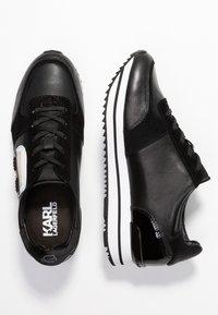 KARL LAGERFELD - VELOCITA IKONIC METEOR LACE - Sneakersy niskie - black - 3