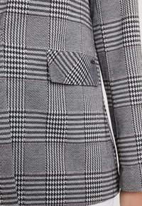 TOM TAILOR DENIM - GIRLFRIEND CHECK - Blazer - black/white/grey - 4