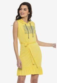 Cipo & Baxx - Jersey dress - yellow - 4
