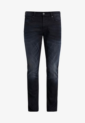 3301 STRAIGHT TAPERED - Straight leg jeans - siro black stretch denim aged