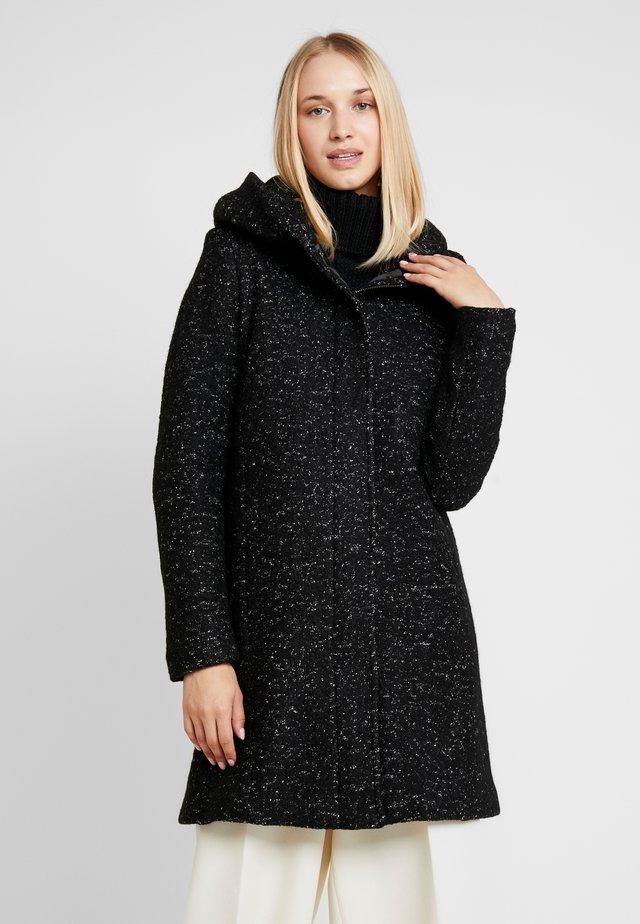 Classic coat - black/melange