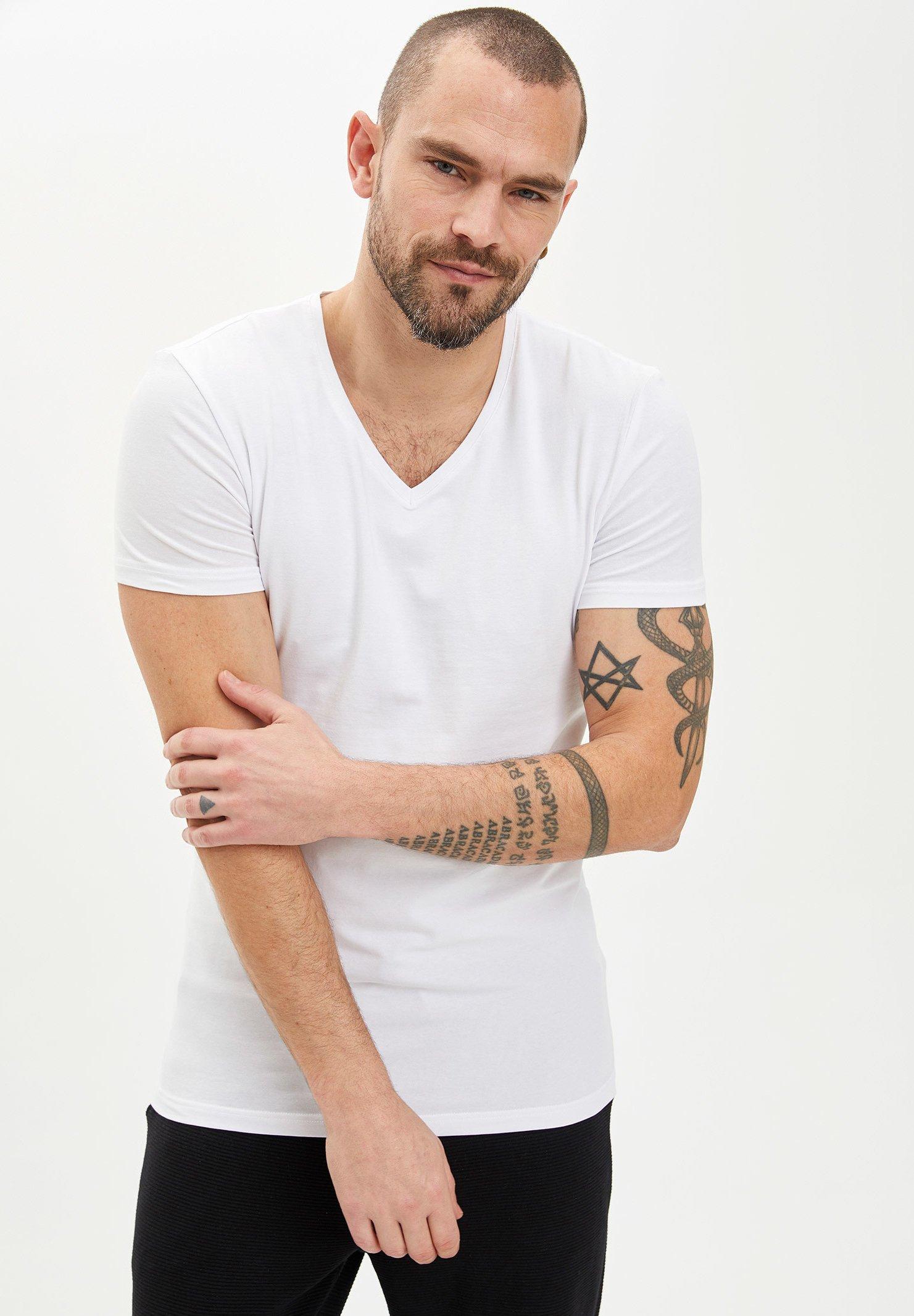 DeFacto Basic T-shirt - white BkKAb