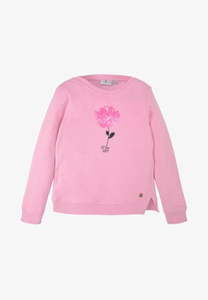 MIT PAILLETTENMOTIV - Sweatshirt - rose