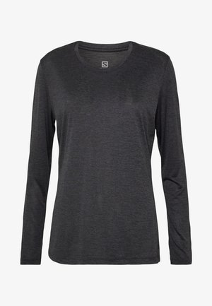 AGILE TEE - Sportshirt - ebony/black/heather