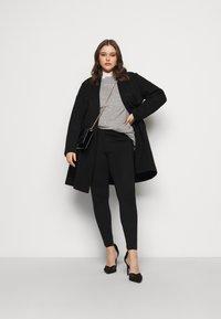 Dorothy Perkins Curve - COLLARLESS UNLINED - Classic coat - black - 1