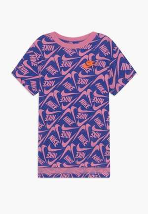 Print T-shirt - hyper blue/magic flamingo