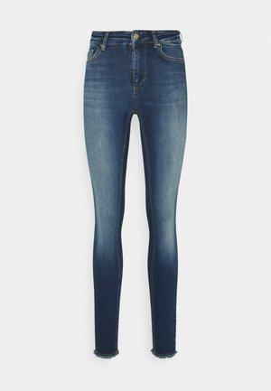 ONLBLUSH LIFE MID - Jeans Skinny - dark blue denim