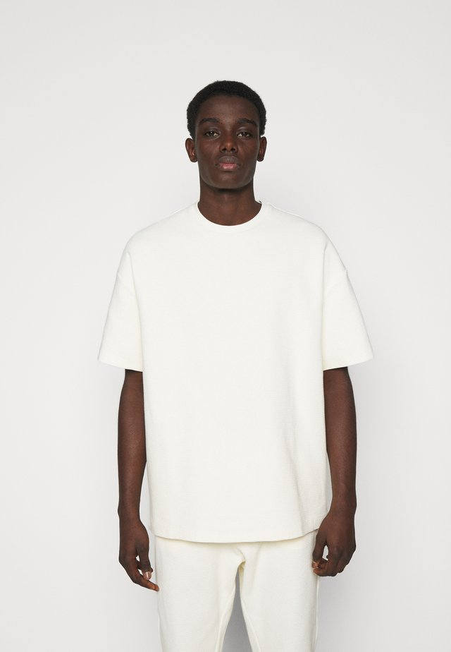 WAFFLE OVERSIZED T - T-shirt basique - off white