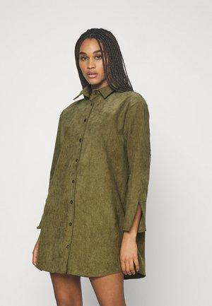 MINI DEEP CUFF DRESS - Skjortekjole - khaki