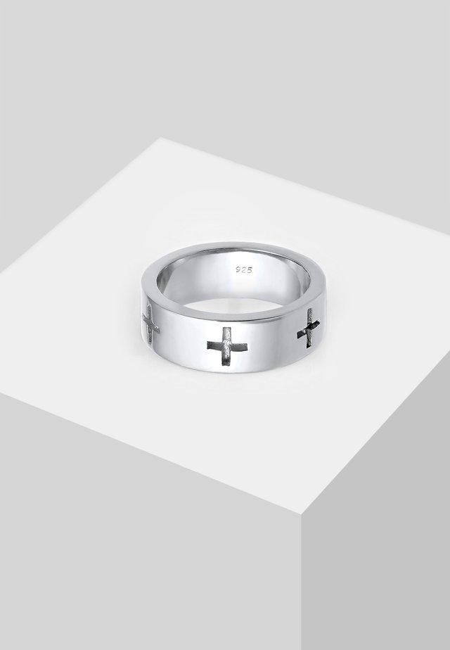 KREUZ CUT OUT  - Ring - silver-coloured