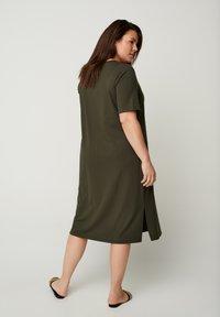 Zizzi - Jumper dress - green - 2