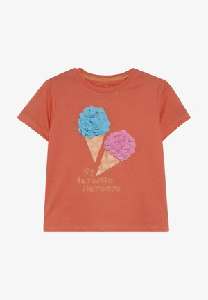 T-shirt con stampa - living coral