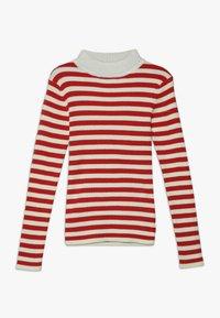 Scotch & Soda - HIGH NECK PULL - Stickad tröja - red/off white - 0