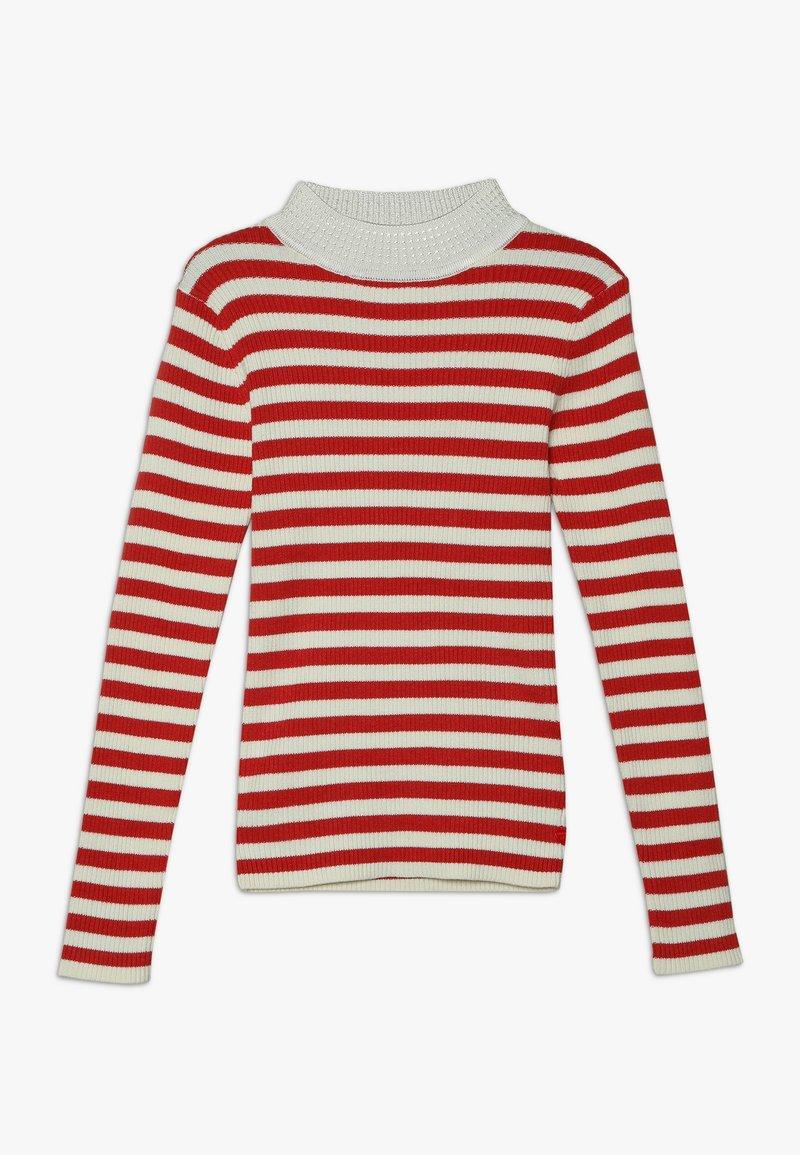 Scotch & Soda - HIGH NECK PULL - Stickad tröja - red/off white