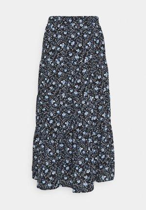 JDYVICKY SKIRT - Pleated skirt - black/vista blue/cloud dancer