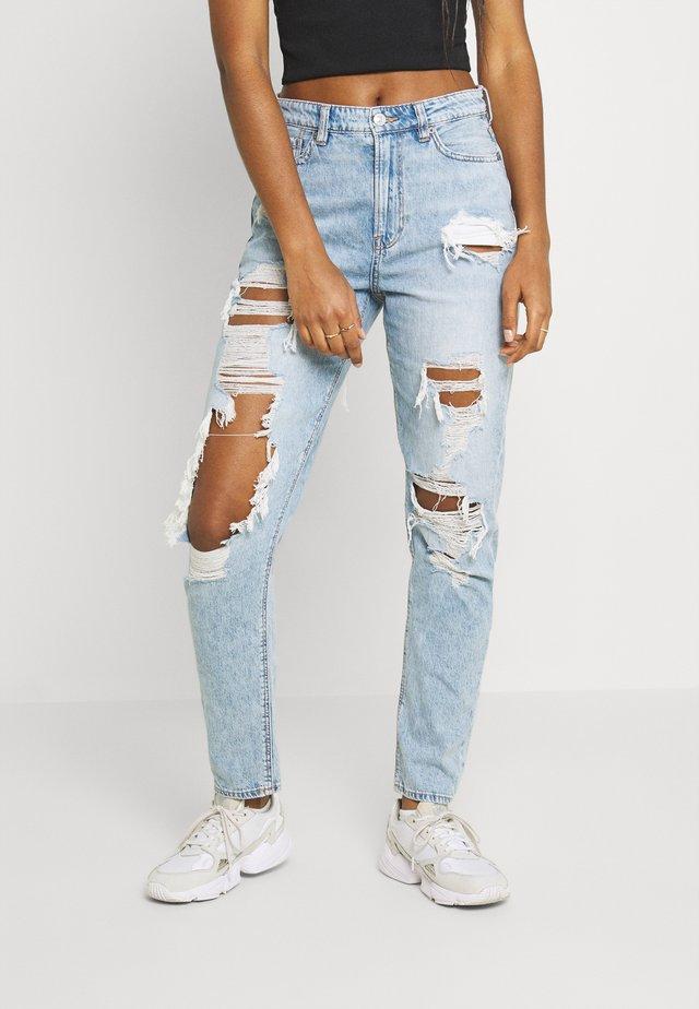 MOM JEANS - Straight leg jeans - high tide