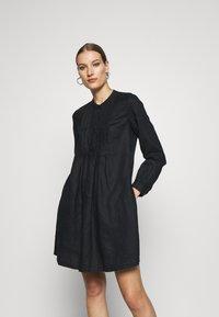 Benetton - DRESS - Skjortekjole - black - 0