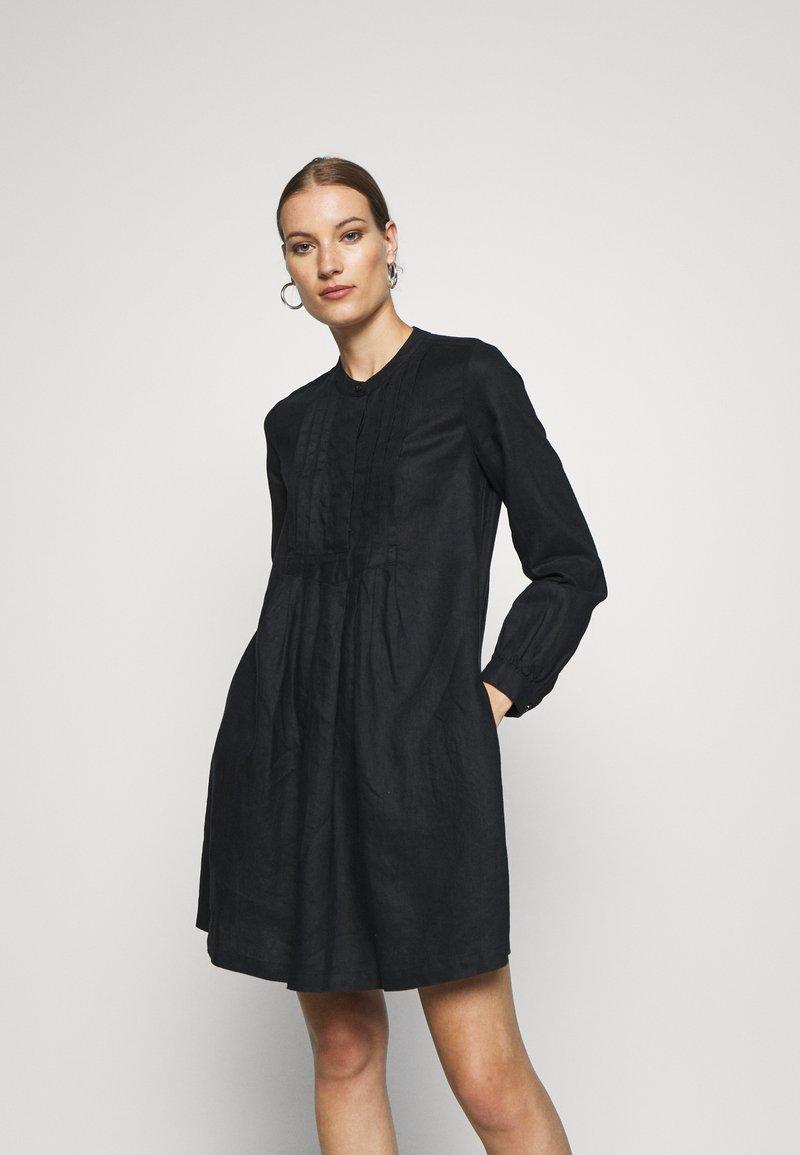 Benetton - DRESS - Skjortekjole - black
