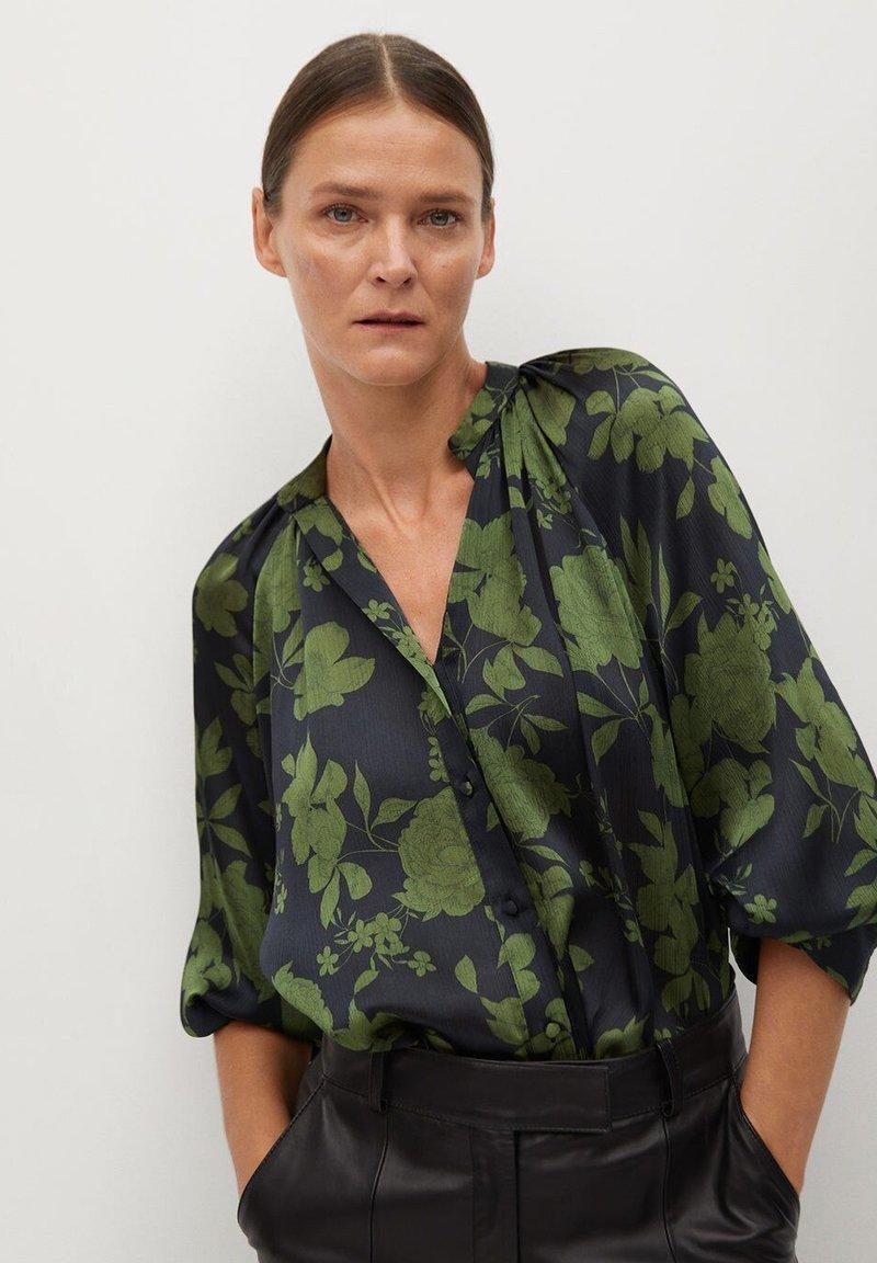 Mango - BICO - Button-down blouse - kaki