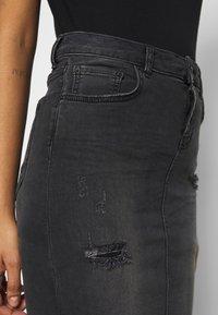 LTB - MIRAH - Denimová sukně - black denim - 6