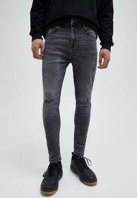 PULL&BEAR - Slim fit jeans - grey - 0