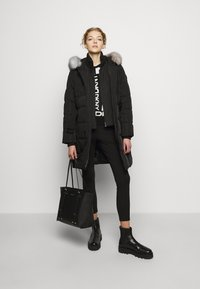 DKNY - FOUNDATION LOGO - Leggings - Trousers - black - 1
