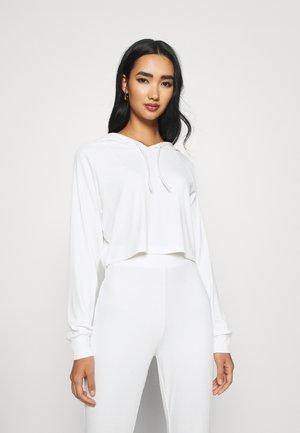 BASIC HOODIE - Long sleeved top - white