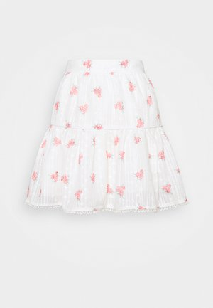 PIPING SKIRT - Minihame - rose broderie