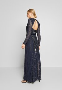 Maya Deluxe - ALL OVER EMBELLISHED SPOT MAXI DRESS - Galajurk - navy - 2