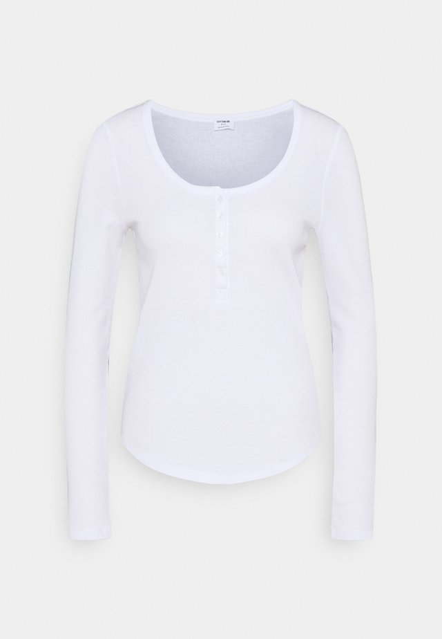 WINNIE WAFFLE SCOOP HENLEY LONG SLEEVE  - T-shirt à manches longues - white