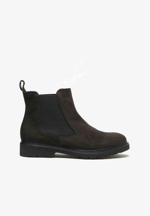 Korte laarzen - dark brown
