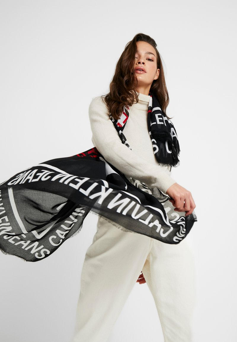 Calvin Klein Jeans - I LOVE SCARF - Foulard - black