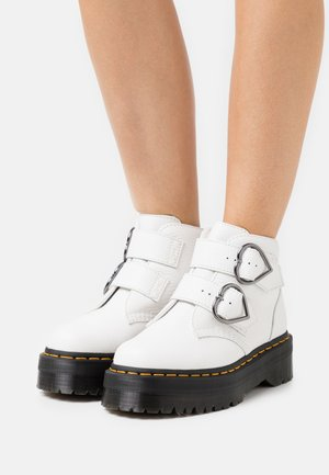 DEVON HEART - Platform ankle boots - white aunt sally