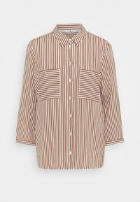 TOM TAILOR - BLOUSE PRINTED STRIPE - Košile - camel/white - 3