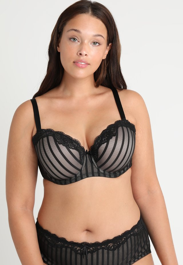 FIFI BRA - Underwired bra - black/latte