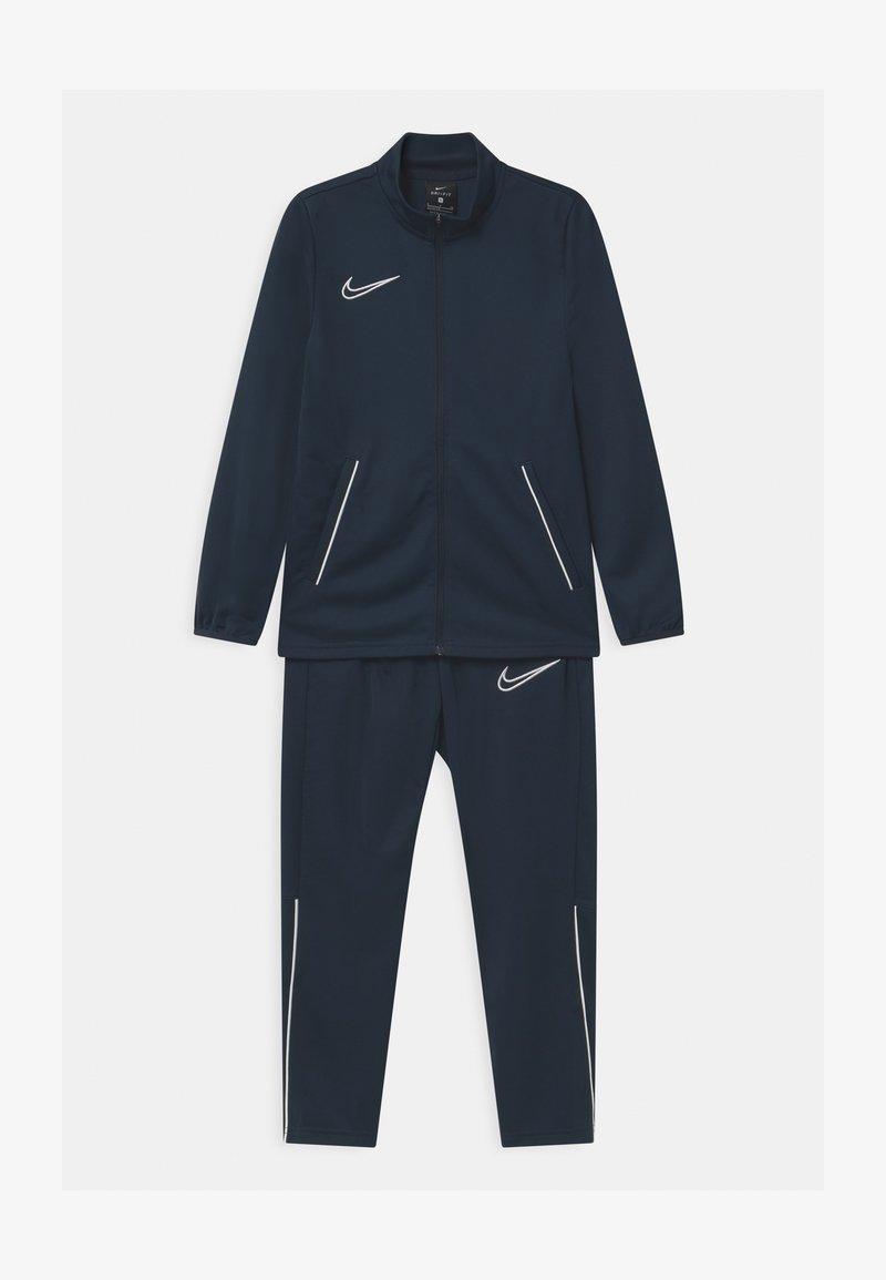 Nike Performance - ACADEMY SET UNISEX - Tracksuit - obsidian/white