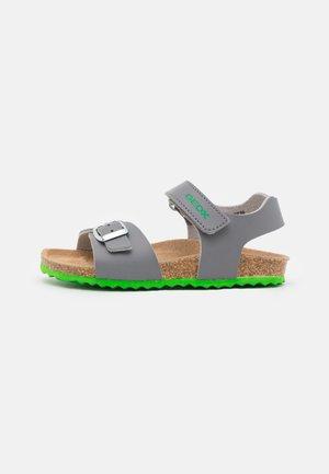 GHITA BOY - Sandals - grey/green