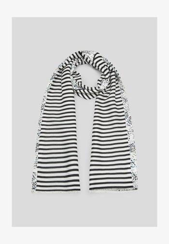 Sjaal - black placed print