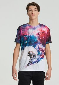 Mr. GUGU & Miss GO - SURFING COSMONAUT - Print T-shirt - white - 0