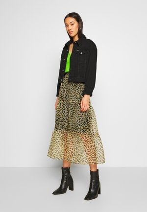 LEO TIERED - A-line skirt - brown