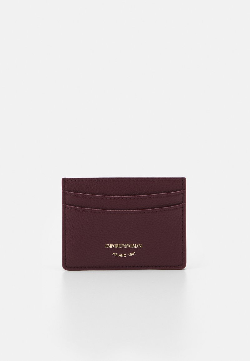 Emporio Armani - CARD HOLDER - Peněženka - vinaccia/grape marc
