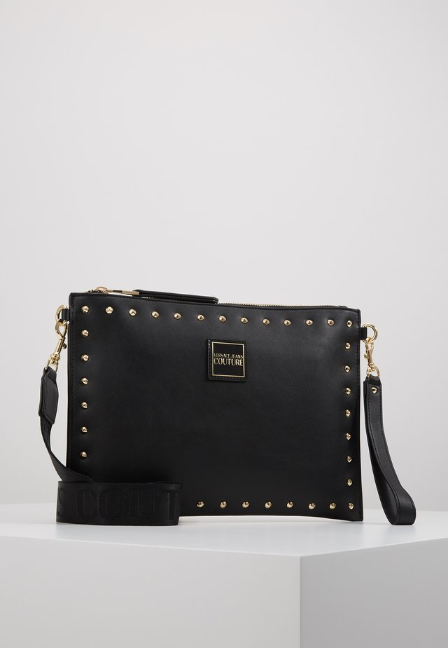 STUDDED POUCH ON STRAP - Kopertówka - black