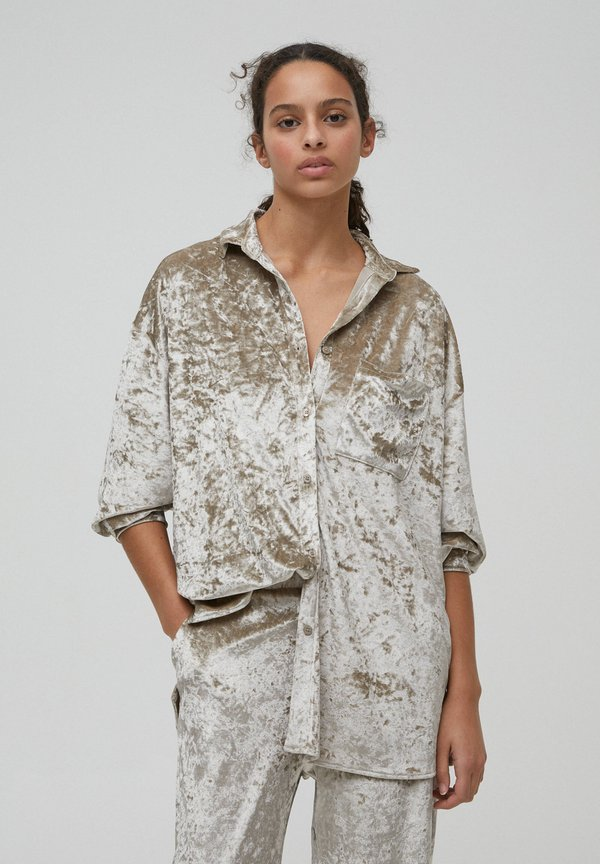 PULL&BEAR Koszula - light grey/jasnoszary NUED