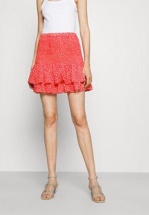 CHEETAH MINI SKIRT - Mini skirt - blush pink