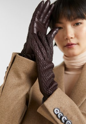 CHIC RUFFLE - Gloves - wine